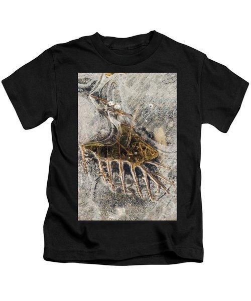 Leaf Veins In Ice Kids T-Shirt