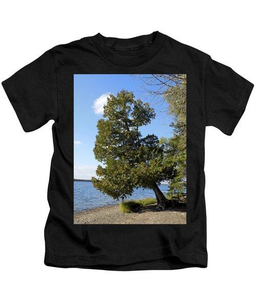 Leaning Cedar Kids T-Shirt