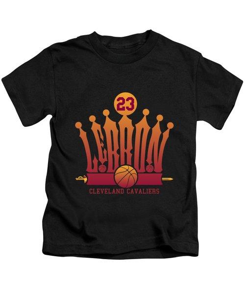 Lebroncrown Kids T-Shirt by Augen Baratbate