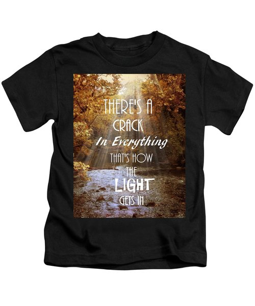 Leonard Cohen Quote Kids T-Shirt