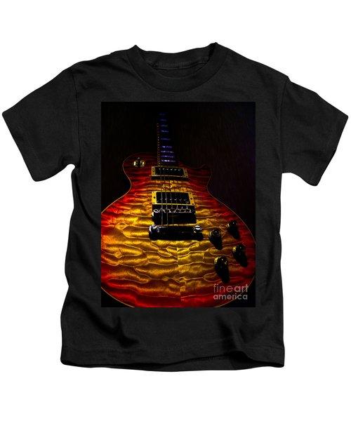 Guitar Custom Quilt Top Spotlight Series Kids T-Shirt