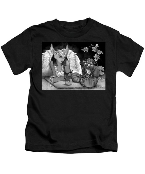 Let Me Explain - Black And White Fantasy Art Kids T-Shirt