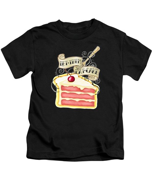 Let Them Eat Cake Traditional Tattoo Style Kids T-Shirt