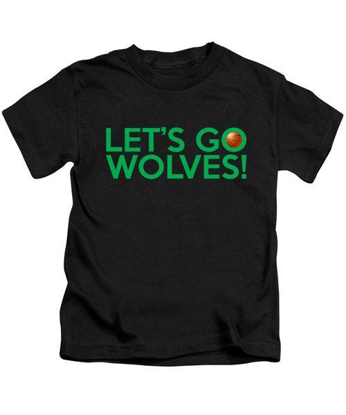 Let's Go Wolves Kids T-Shirt