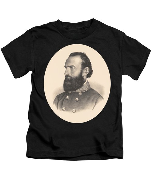 General Stonewall Jackson Portrait - Eight Kids T-Shirt