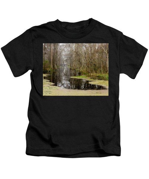 Light Fog On The Swamp Kids T-Shirt
