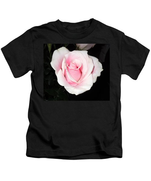 Light Pink Rose Kids T-Shirt