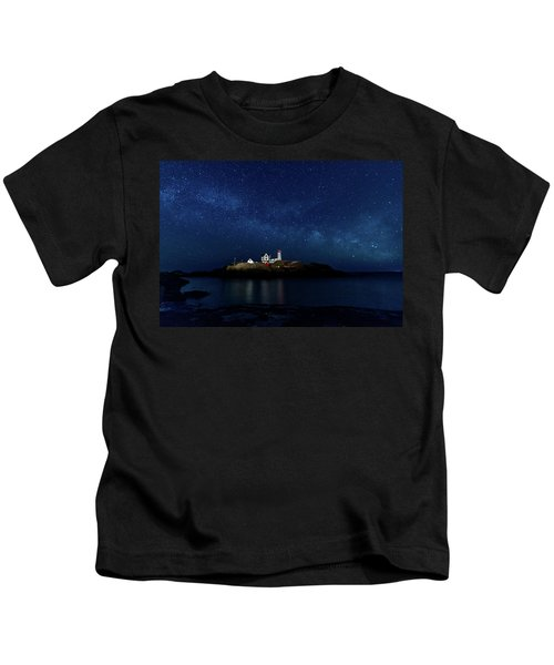 Light Up Nubble Lighthouse Kids T-Shirt