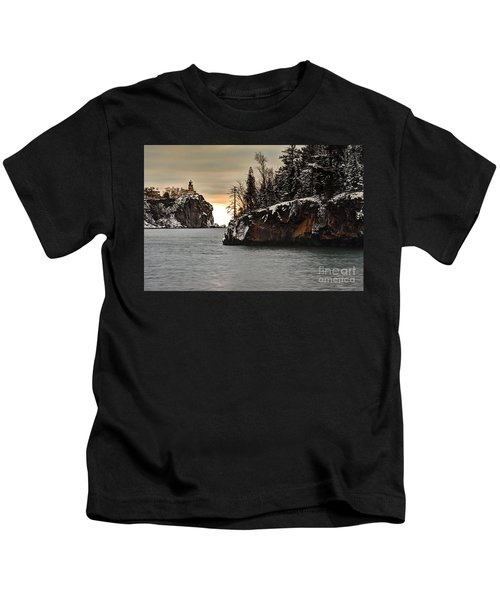 Lighthouse And Island At Dawn Kids T-Shirt