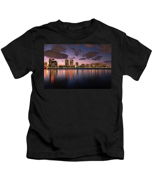 Lights At Night In West Palm Beach Kids T-Shirt