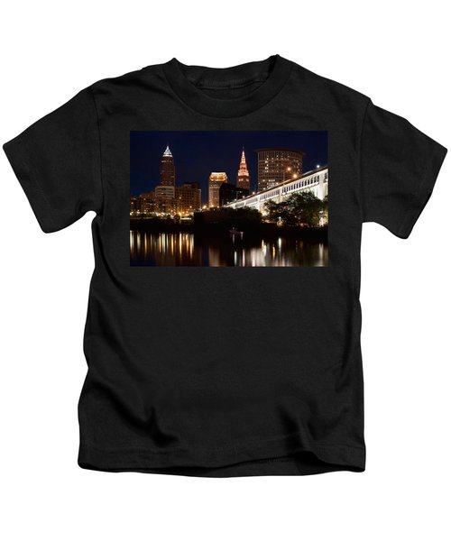 Lights In Cleveland Ohio Kids T-Shirt