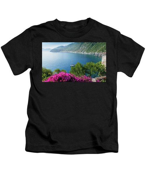 Ligurian Sea, Italy Kids T-Shirt
