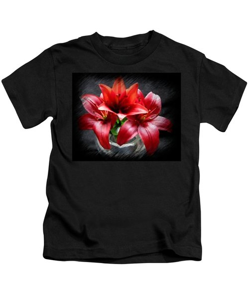 Lillies In Red Kids T-Shirt