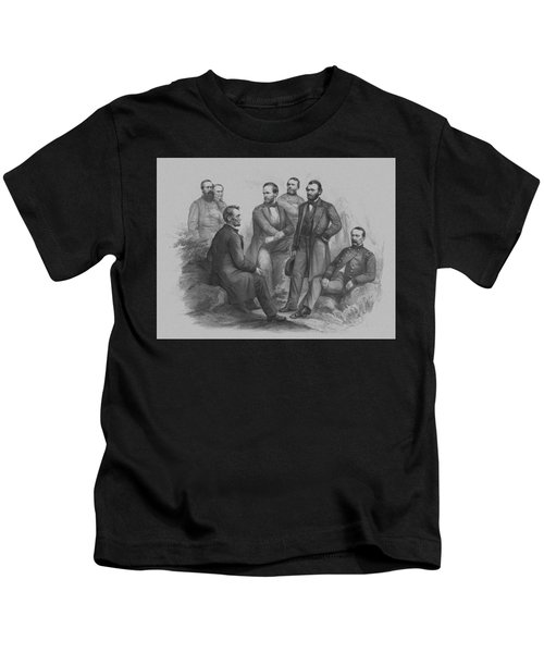 Lincoln And His Generals Kids T-Shirt