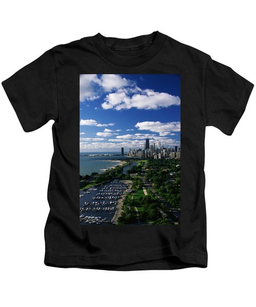 Lincoln Park And Diversey Harbor Kids T-Shirt