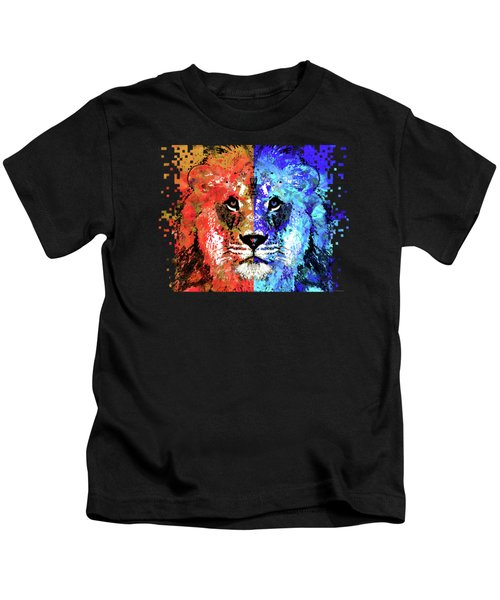 Lion Art - Majesty - Sharon Cummings Kids T-Shirt