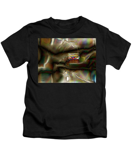 Little House On The Abstract Prairie Kids T-Shirt