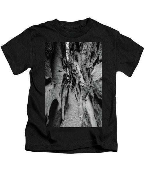 Little Wild Horse Canyon Bw Kids T-Shirt
