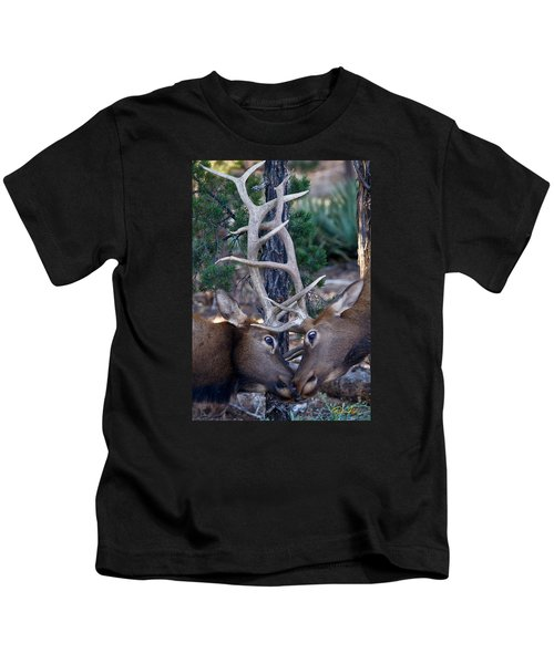 Locking Horns - Well Antlers Kids T-Shirt