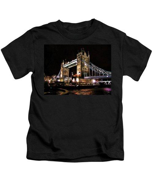 London Bridge At Night Kids T-Shirt