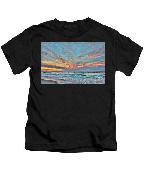 Long Beach Island Sunrise Kids T-Shirt