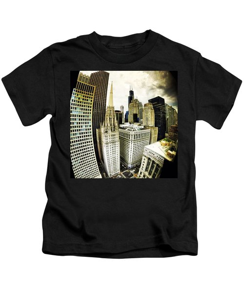 Looking Towards The Southwest And The Sears Tower Kids T-Shirt