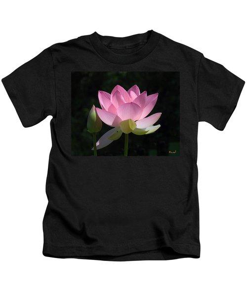 Lotus Bud--snuggle Bud Dl005 Kids T-Shirt