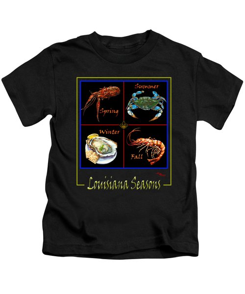 Louisiana Seasons Kids T-Shirt