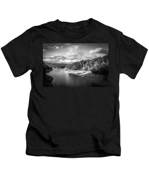 Low Sun Across The Nantahala River As The Clouds Clear Away Kids T-Shirt