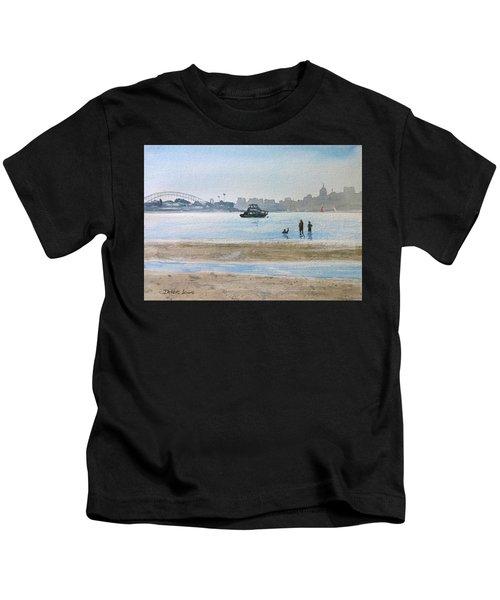 Low Tide At Rose Bay Kids T-Shirt
