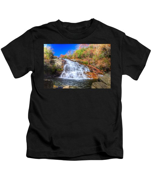 Lower Falls At Graveyard Fields Kids T-Shirt