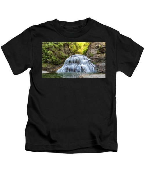 Lower Falls At Treman State Park Kids T-Shirt
