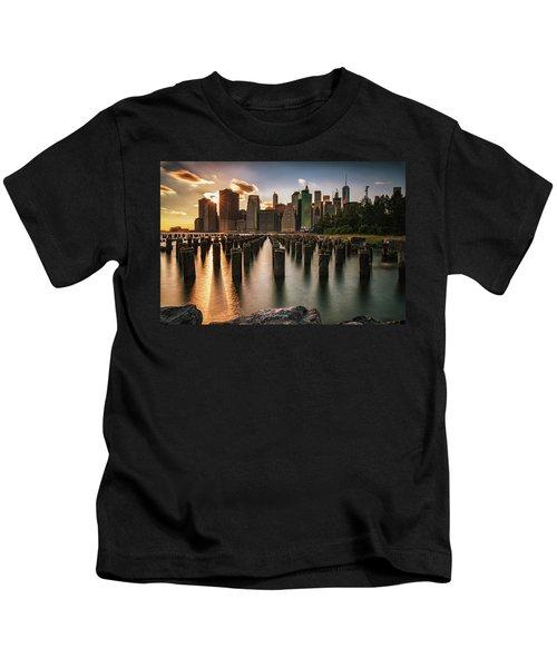 Lower Manhattan Sunset Twinkle Kids T-Shirt