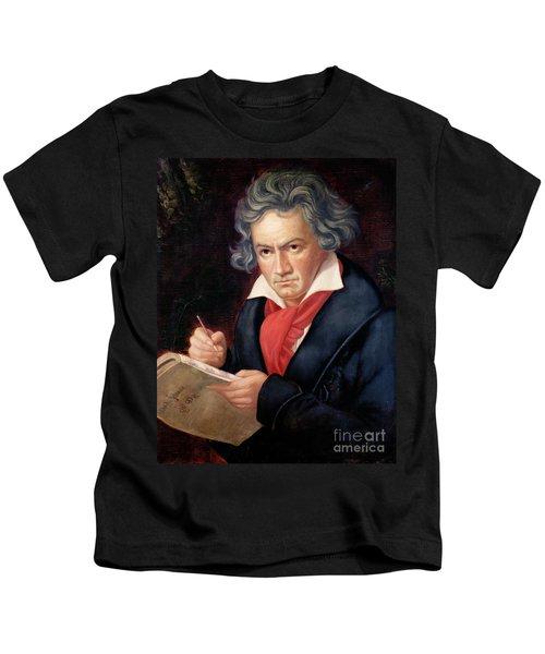 Ludwig Van Beethoven Composing His Missa Solemnis Kids T-Shirt
