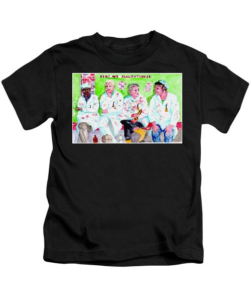 Lunch At The Slaughter House Kids T-Shirt