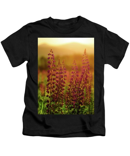 Lupines At Dawn Kids T-Shirt