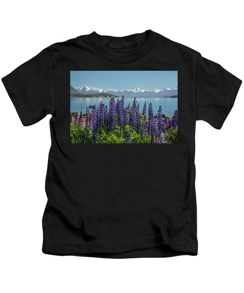 Lupines At Lake Tekapo Kids T-Shirt