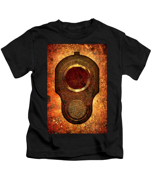 M1911 Muzzle On Rusted Background Kids T-Shirt
