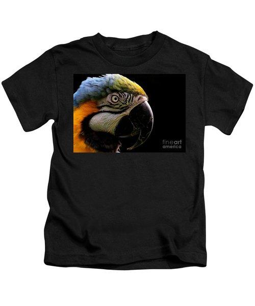 Macaw Parrot Portrait Kids T-Shirt