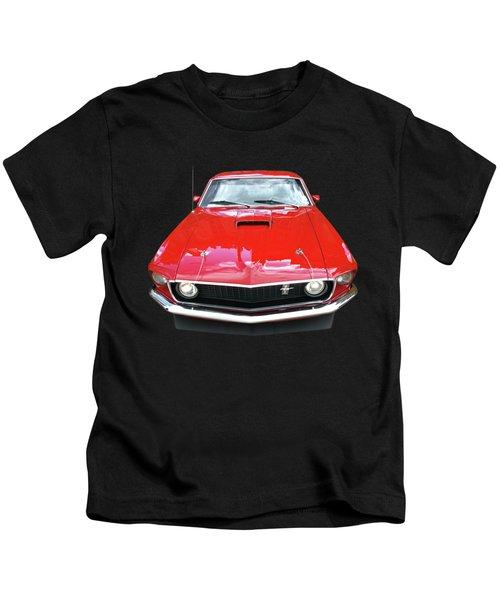 Mach1 Mustang 1969 Head On Kids T-Shirt