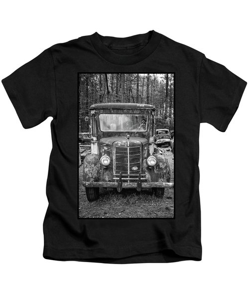 Mack Truck In A Junkyard Kids T-Shirt