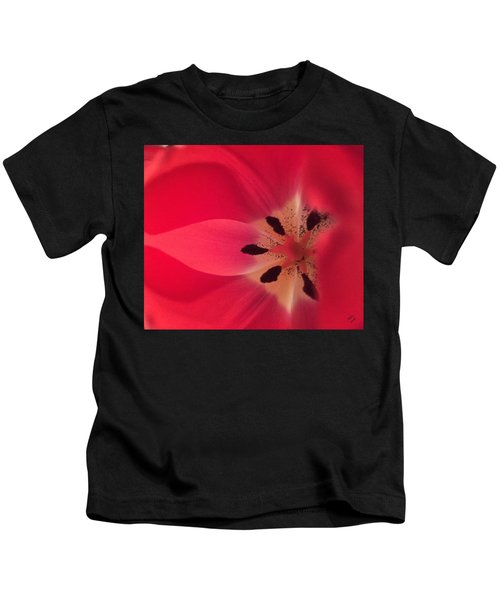 Kids T-Shirt featuring the photograph Macro Beauty Tulip by Marian Palucci-Lonzetta