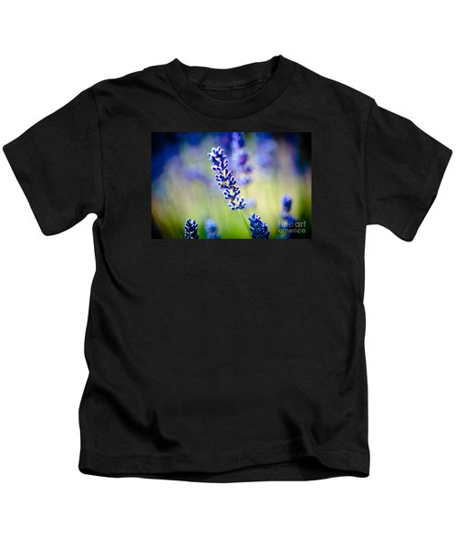 Macro Lavander Flowers In Lavender Field Artmif Kids T-Shirt