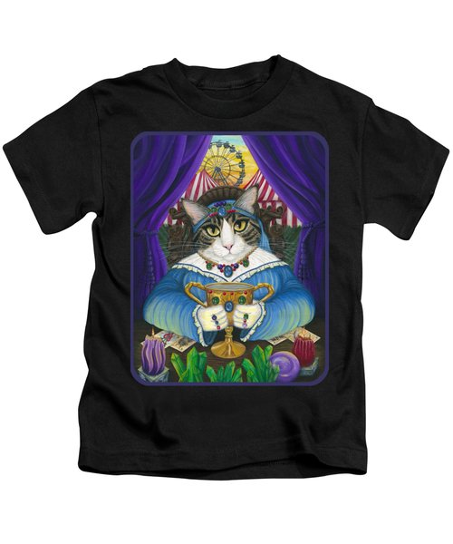 Madame Zoe Teller Of Fortunes - Queen Of Cups Kids T-Shirt