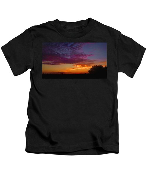 Magenta Morning Sky Kids T-Shirt