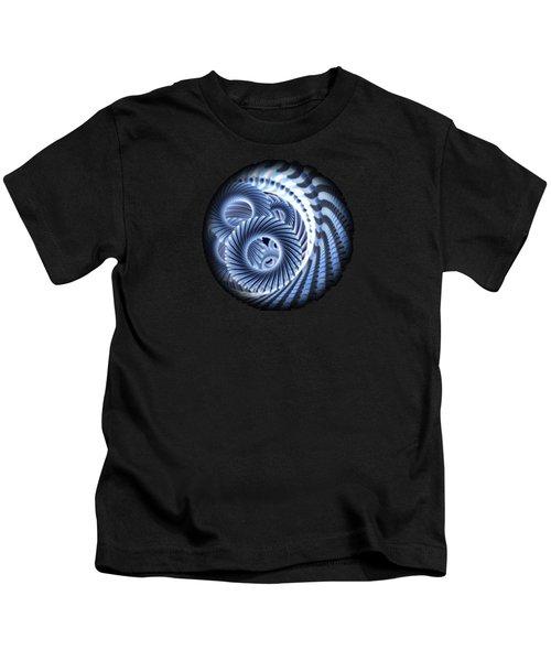 Magic Blue Whirl Kids T-Shirt