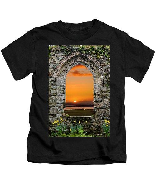 Kids T-Shirt featuring the photograph Magical Irish Spring Sunrise by James Truett