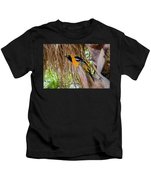 Male Hooded Oriole H17 Kids T-Shirt