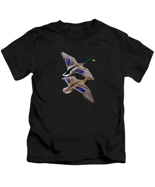 Mallards In Flight  Kids T-Shirt