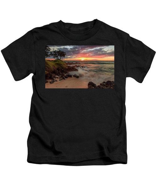 Maluaka Beach Sunset Kids T-Shirt